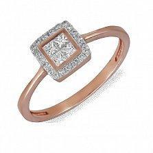 Кольцо из красного золота Джина с бриллиантами