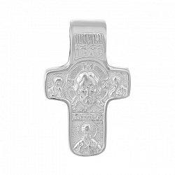 Серебряный крестик Христос 000033989