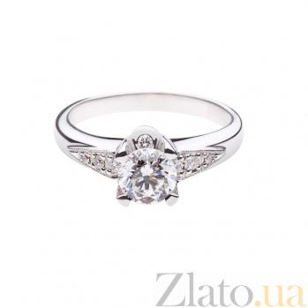 Золотое помолвочное кольцо с бриллиантами Марлена 1К054-0017