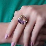 Золотое кольцо Ксандия с аметрином и бриллиантами