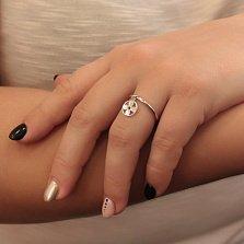 Серебряное кольцо Модный цветочек с подвеской в стиле Луи Виттон