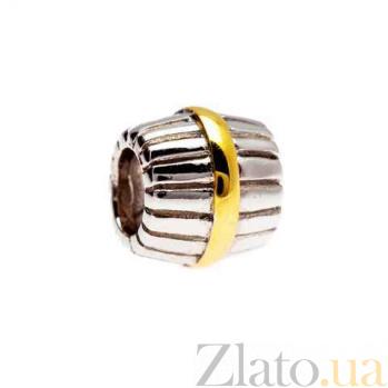 Бусина серебряная с позолотой AQA--134510074/5