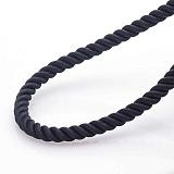 Шелковый шнурок Вивид с гладкой серебряной застежкой, 4 мм
