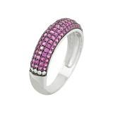 Серебряное кольцо с фианитами Кларис