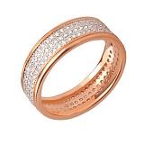 Кольцо из красного и белого золота Исида с фианитами
