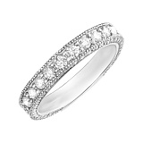 Золотое кольцо Чистая река в белом цвете с бриллиантами
