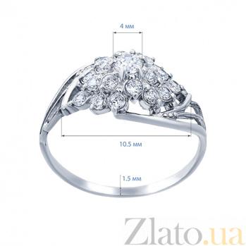 Серебряное кольцо с цирконием Ежевика AQA--71729б