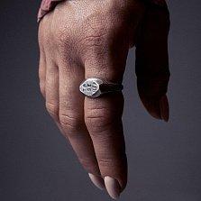 Кольцо из серебра Rhombus с чернением