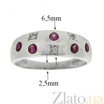 Серебряное кольцо с бриллиантами и рубинами Mosaic ZMX--RDR-6048-Ag_K