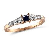 Кольцо из золота с сапфиром и бриллиантами Юнона
