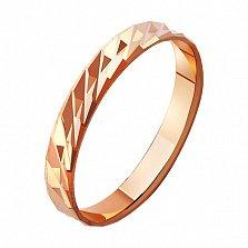 Золотое обручальное кольцо Пламя любви