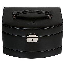 Черная шкатулка для украшений Merino с дорожным отделением и замком