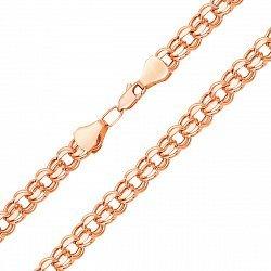 Золотая цепочка Исида в красном цвете с алмазной гранью