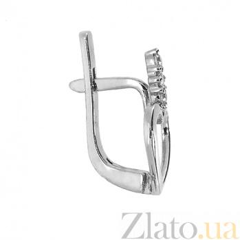 Золотые серьги с бриллиантами Чара ZMX--ED-5510w_K