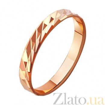 Золотое обручальное кольцо Пламя любви TRF--411006
