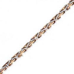Золотая цепь Baraka Болония в комбинированном цвете 000033384