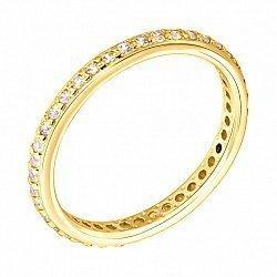 Кольцо из желтого золота с фианитами 000135519