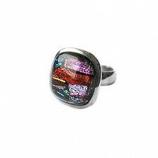 Серебряное кольцо с имитацией опала Вернисаж