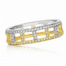 Кольцо Argile-F в белом и лимонном золоте