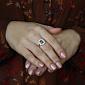 Золотое кольцо с александритом и фианитами Иветта 000024454