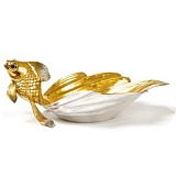 Серебряная икорница Сказочная Рыбка