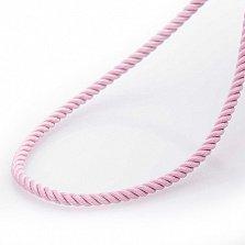 Шелковый шнурок Благородство с серебряной застежкой