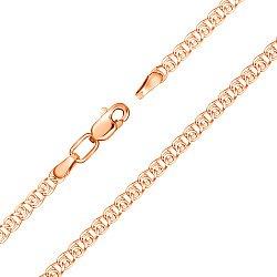 Золотой браслет в красном цвете плетения лав 000104373