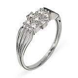Кольцо из белого золота с бриллиантами Мирэлла