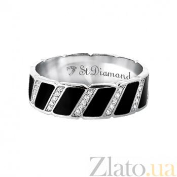 Золотое кольцо с бриллиантами и эмалью Наслаждение и долг 000029632