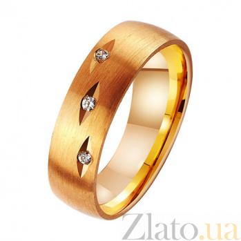 Золотое обручальное кольцо с фианитами Созвездие нежности TRF--412580