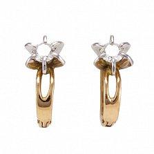 Золотые серьги с бриллиантами Габриелла