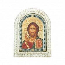 Серебряная икона Наш спаситель с позолотой