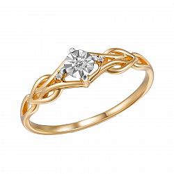 Кольцо из красного золота Элеонора с бриллиантами