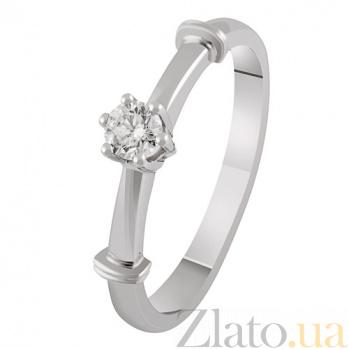 Золотое кольцо с бриллиантом Геката KBL--К1887/бел/брил