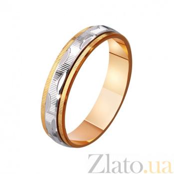 Обручальное кольцо из комбинированного золота Endless love TRF--421092