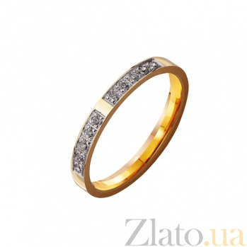 Золотое обручальное кольцо My Dream с фианитами TRF--4321082
