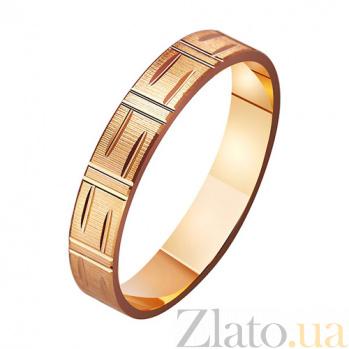 Золотое обручальное кольцо Нежность и строгость TRF--411103