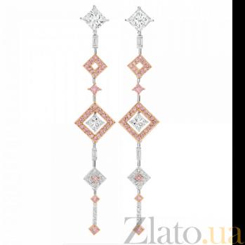 Серьги Argile с бриллиантами и розовыми сапфирами E-cjAr-W/R-72s-40d