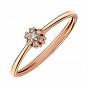 Кольцо из красного золота с бриллиантами 000145508