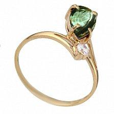 Золотое кольцо Вайнона с аметистом и цирконием