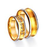 Золотое обручальное кольцо Источник радости с дорожкой из 9 фианитов
