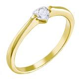 Золотое кольцо Таврия с Swarovski Zirconia