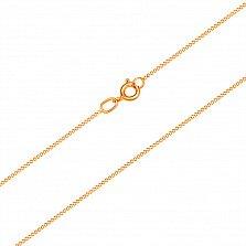 Золотая цепочка Прованс в красном цвете панцирного плетения, 1мм