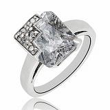 Серебряное кольцо Снежная королева с фианитом