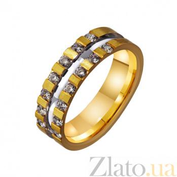 Золотое обручальное кольцо Искорки счастья TRF--4421404