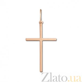 Крестик из красного золота Смиренная молитва 30324