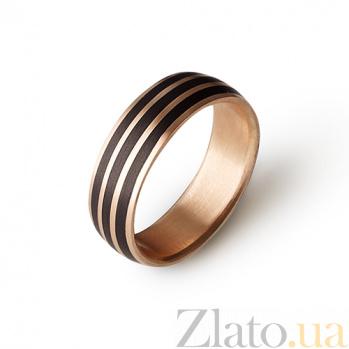 Карбоновое кольцо с красным золотом Шарм CJ018