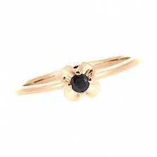 Золотое кольцо в красном цвете с сапфиром Милет