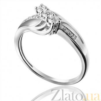 Кольцо из белого золота с бриллиантами Блестящее впечатление EDM--КД7459/1