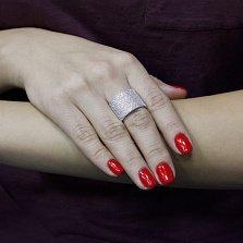 Серебряное кольцо Королева гламура с фианитами
